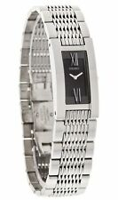 SEIKO $325 WOMEN'S SILVER-TONE SS DRESS WATCH, BLACK DIAL, ROMAN NUMERALS SUJ343