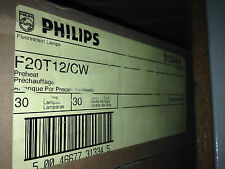 (30 pack) Philips F20T12/CW 20 watt Straight T12 Fluorescent Tube Light Bulb