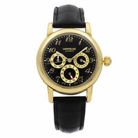 Montblanc Meisterstuck 18K Yellow Gold Dual Time Day Date Automatic Watch 7013