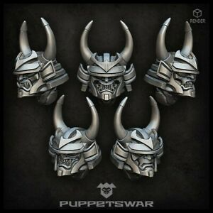 Traitor Daimyo Helmets Five models Puppetswar S368