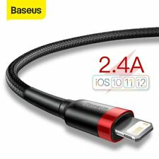 Baseus USB Cable for iPhone 11 Pro Max Xs X 8 Plus Cable 2.4A Fast Charging