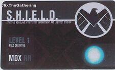 NFID-008 LEVEL 1 ID CARD Nick Fury Agent of S.H.I.E.L.D Marvel Heroclix