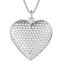 925 Silber Herz Medallion Anhänger Foto rhodiniert Kette Medaillon zum öffnen
