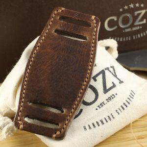 Handmade Italian Veg Tanned Vintage 402 Leather Bund Pad for watch straps