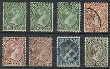 FALKLAND ISLAND LOT QV TO 4d. (x8)