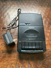 Sony Cassette~Corder Portable Tape Recorder Player TCM-929 with 6V AC Adapter.