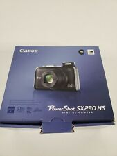Canon PowerShot SX230 HS Digital Camera 12 mp 14x Zoom, Case and Extra Batteries