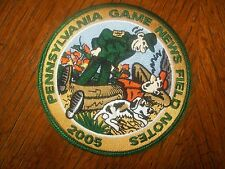 SOLD OUT PA PENNSYLVANIA GAME COMMISSION PATCH  2005  2ND IN FIELD NOTES SERIES