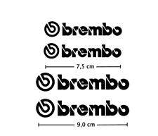 4x Brembo Bremssattel Aufkleber schwarz / hitzebeständig!