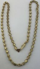 "Lady's 14k yellow gold heart link chain, 17"", 3.5 mm, 8.2 grams"