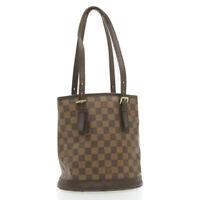 LOUIS VUITTON Damier Ebene Marais Shoulder Bag N42240 LV Auth 20118