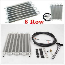Aluminum 8 Row Remote Transmission Oil Cooler/Auto-Manual Radiator Converter Kit