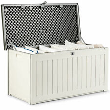More details for outdoor deck box waterproof plastic storage box lockable lid garden furniture