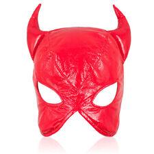Bondage Faux Leather Devil Lace Up Gimp Mask / Hood