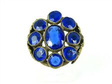 Vintage Gold Tone Blue Stone Ladies Ring 5.9g