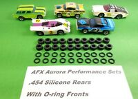 ☆40 Tires☆ For AFX AURORA MAGNATRACTION O-RINGS & REAR SILICONES HO Slot Car