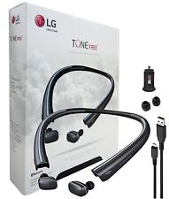 OEM LG TONE Free HBS-F110 HD Wireless In-Ear Bluetooth Headphones W/Car Charger