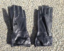 WW2 German Fallschirmjäger / Paratrooper Black Leather Gloves Late War (Size M)