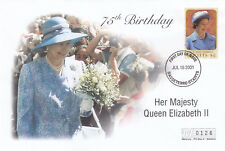 (19404) St Kitts Mercury FDC Queen 75th Birthday 16 July 2001