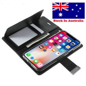 Iphone 5, SE, 6,  7, 8 7 Plus X, XS Max XR Wallet Case  with Card holder Leather