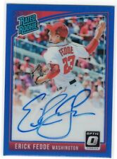 2018 Donruss Optic Erick Fedde Rated Rookie RC Auto Blue Prizm #49/75