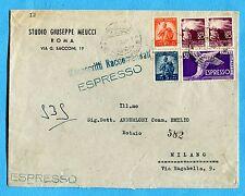 1949 EXP.DEM.£.30  + DEM.£.10  + £.20 x 2 + £.5 ann.ROMA, 01.09.49  (257928)