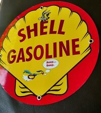 Shell Gas Oil gasoline sign #4