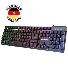 Duatec Gaming Tastatur ZYG80 Halbmechanisch LED Anti-Ghosting QWERTZ Wasserdicht