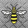 Mancunian Bee Sticker, Manchester bee Proud to be Mancunian Car Sticker 95x75mm