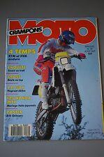 MOTO CRAMPONS N°30 KTM 600 GS HUSQVARNA 510 TE HONDA 125 MTX RALLY SPORT 1987