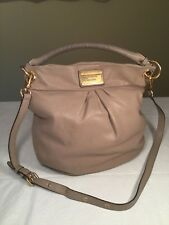 Marc by Marc Jacobs Classic Q Hillier Hobo Lizard Embossed Leather Taupe Bag