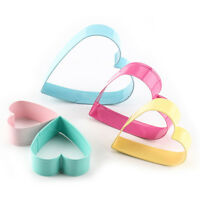 5Pcs Heart Shaped Cookie Cutter Biscuit Pastry Fondant Stainless Steel Mould KI