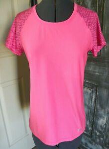 Women's Size S Under Armour Heatgear Pink Short Sleeve Top