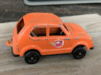 "Vintage Tootsie Toy Honda Civic Orange Diecast Made in U.S.A. 3"" Long... L246"