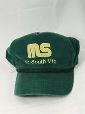 Vintage Mid South Manufacturing Hat SnapBack Corded Green Cap