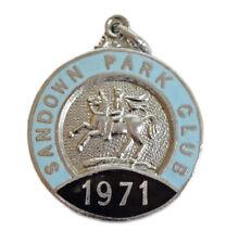 More details for sandown park club 1971 horseracing stand members enamel badge