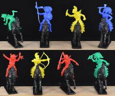 COLORS VARY Jean Hoefler 10 Cowboys Set #1-60mm plastic toy soldiers