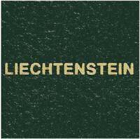 Scott Specialty Green Binder Liechtenstein Gold Lettering Label Stamp Albums NEW