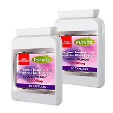 Curcuma Curcumine 10 000 MG Plus Poivre Noir Pilules Curcuma Capsules Purvit GB