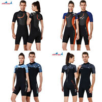 1.5mm  / 3mm Diving Suit Back Zipper Short Sleeve Shorts Jumpsuit Shorty Wetsuit