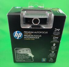 HP Web Cam Premium AutoFocus Webcam 2MP Sensor/ 12 Still Photo ,Face-tracking