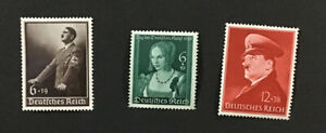 Germany 1939-41 VF MNH Sc#B140, B146, B190, Catalogs $48.50