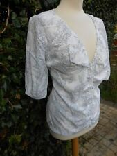 Fat Face White Cotton Blouse Honeycomb Pattern Originally £32 now yours for £14