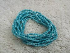 10 pcs Blue Micro Glass Bead Bracelet SET (D74)