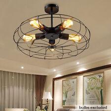 Industrial Fan Cage Ceiling Light Fixture Ceiling Light Pendant Lamp Chandelier
