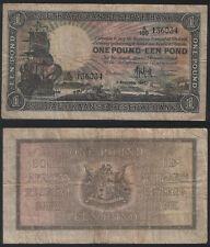 South Africa P 84 f - 1 Pound 1947 - Fine+
