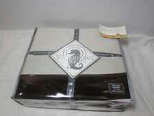 """New Waterford Linens Rosemarie Dual King Bedskirt 78x80 18"""" Drop Cocoa Nip"""
