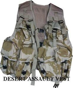 BRITISH ARMY DESERT ASSAULT VEST OPS WEBBING VEST DESSERT ISSUE