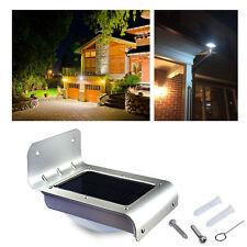 Solar Power Outdoor Waterproof PIR Motion Sensor Garden Lamp Wall Light Silver