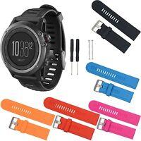 Silicone Wrist Watch Band Strap Tools For Garmin Fenix 3 Fenix 2 GPS Watch #GY